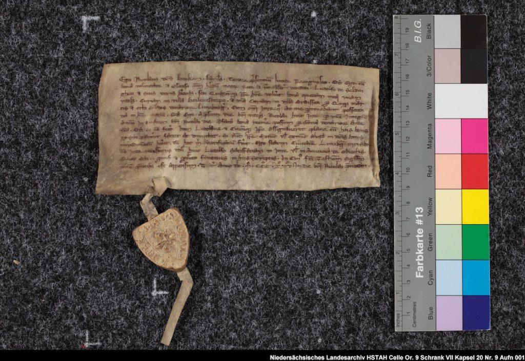 Mittelalterliche Urkunde