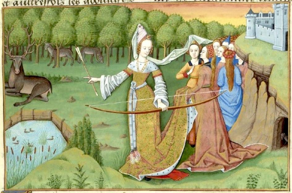 Auf der Jagd nach wahrer Liebe: Diana im Le Livre des Echecs Amoureux (15. Jh.). Paris, BNF Français 143, fol. 116r.