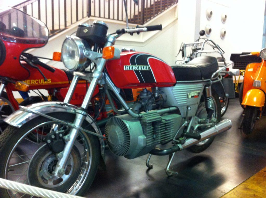 Motorrad mit Wankelmotor von Herkules. Foto (c) HistoFakt.