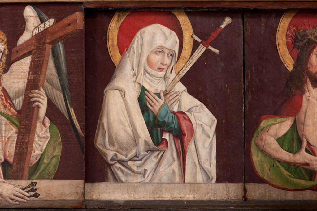 Predella des Mistlauer Altarretabels (Schmerzensmutter), um 1505. (c) Landesmuseum Württemberg, Stuttgart. Foto: Hendrik Zwietasch
