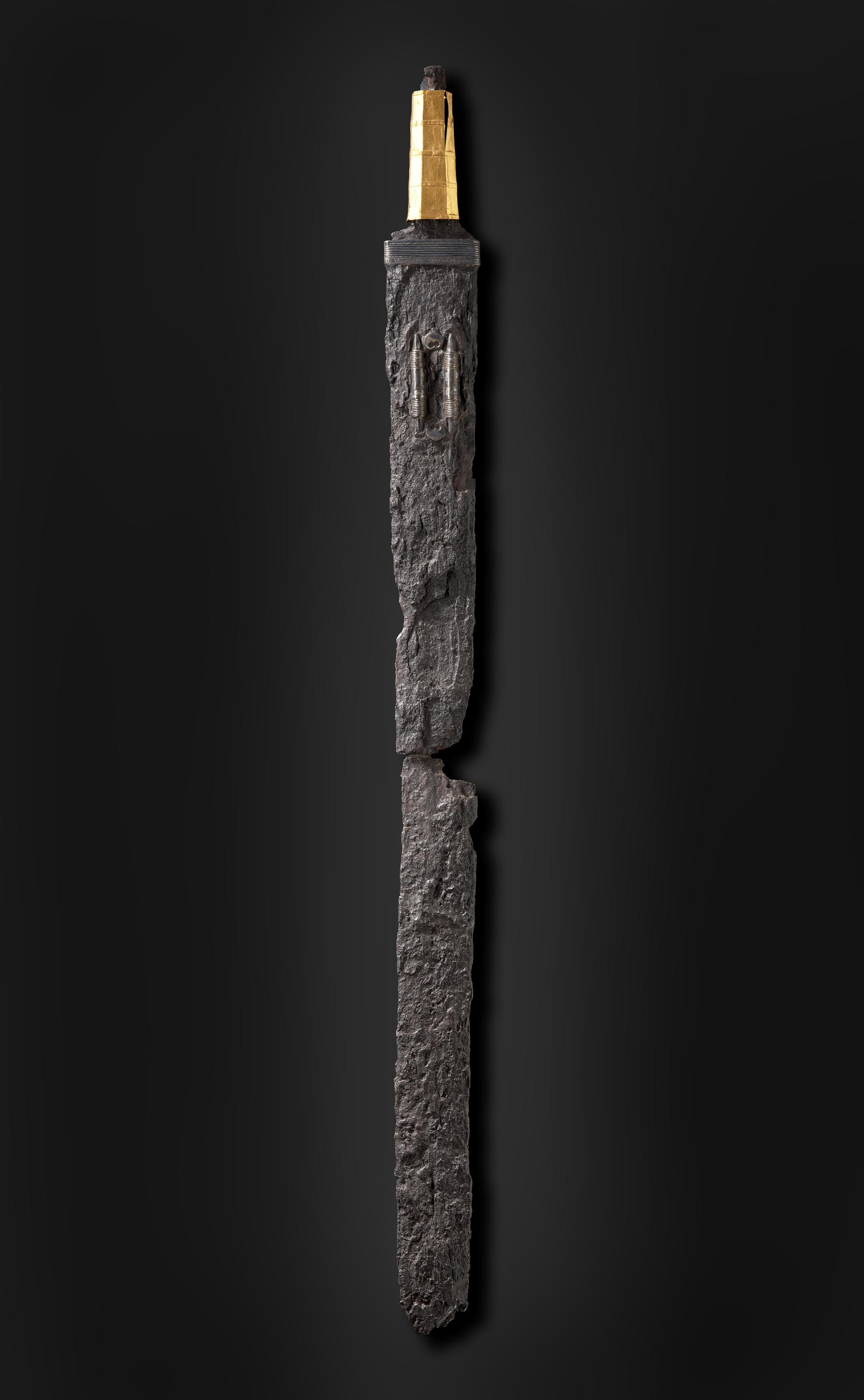 Goldgriffspatha aus Sindelfingen. 5./6. Jh. (c) Landesmuseum Württemberg, Stuttgart. Foto: Hendrik Zwietasch