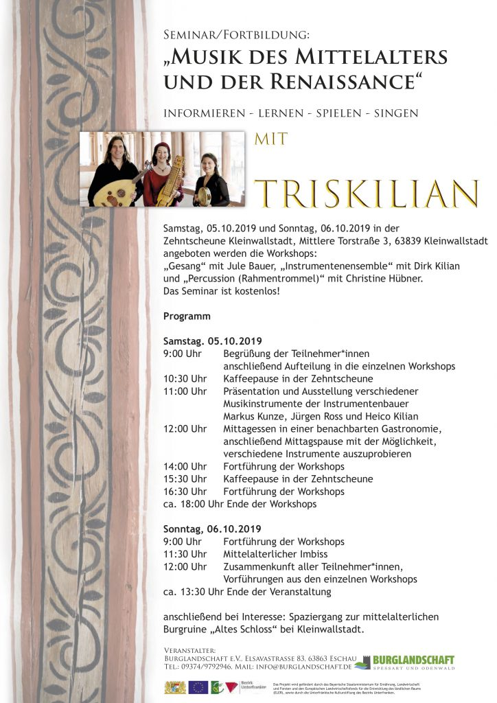 "Programm zum Seminar mit ""Triskilian"""